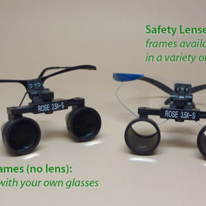 2.5x Magnifying Loupes on Frames (short)